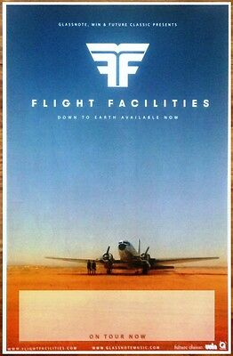 FLIGHT FACILITIES Down To Earth Ltd Ed Discontinued RARE Poster +FREE Pop Poster