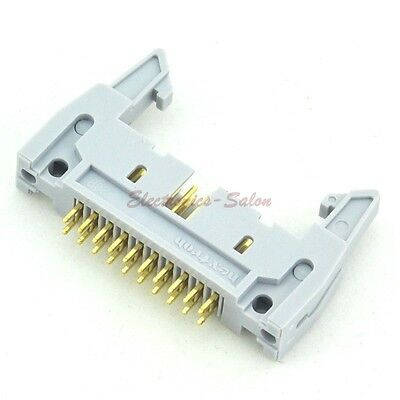 10x IDC 20 Pin Male Header Connector, Vertical, with Ejection Latch.