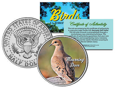 MOURNING DOVE BIRD JFK Kennedy Half Dollar US Colorized Coin