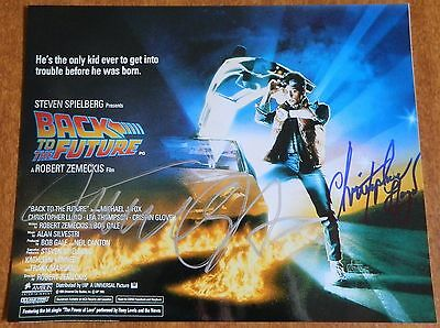 """MICHAEL J FOX & CHRISTOPHER LLOYD SIGNED PHOTO """"BACK TO THE FUTURE"""" 100% AUTHENT"""