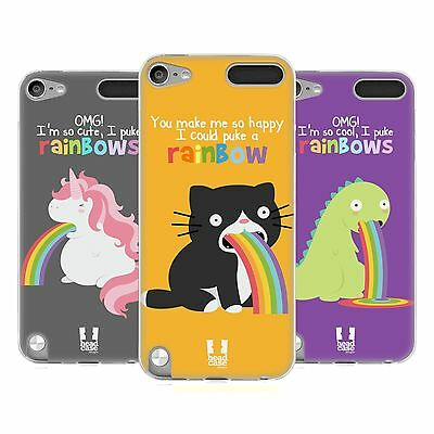 HEAD CASE RAINBOW PUKE SILICONE GEL CASE FOR APPLE iPOD TOUCH 5G 5TH GEN