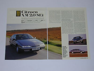 Citroen XM 2.0 SEi Road Test from 1989 - Original article