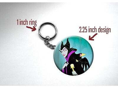 "Maleficent Sleeping Beauty Disney Villain 2 1/4"" Key Chain"