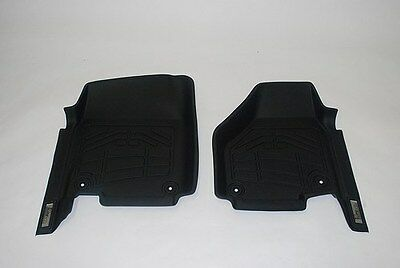 Custom Wade Floor Mats in Black for a Ford F150 Super Cab (one hook) 2009 - 2012