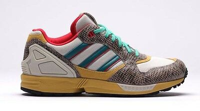 """New Womens 6 ADIDAS """"OG Leather Snakeskin"""" Running Shoes $160 """"ZX 6000 W"""" M25116"""
