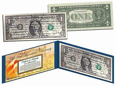 ALL 44 U.S. PRESIDENT SIGNATURES Genuine Legal Tender US $1 Bill *World's First*