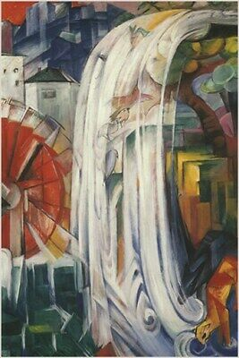 FRANZ MARC vintage painting art poster THE BEWITCHED MILL cubism 24X36 HOT