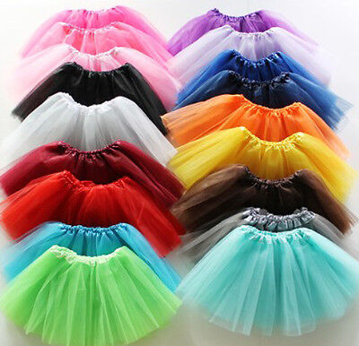 Adults Teens Women Tutu Ballet Skirt 3 Layer Tulle Costume Hens Night Party New