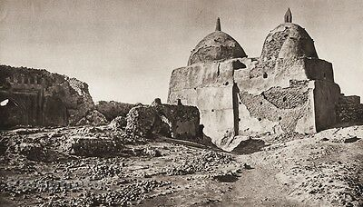 1925 Vintage TAKRIT Sanctuary Architecture Landscape ISRAEL Palestine Photo Art
