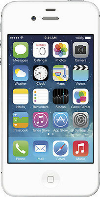 Apple - iPhone 4s 8GB Cell Phone - White (Sprint)