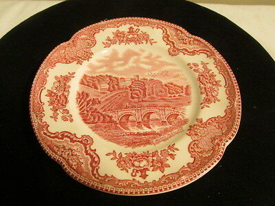 Vintage Johnson Bros. Old Britain Castles Red Bread and Butter Plate VFC
