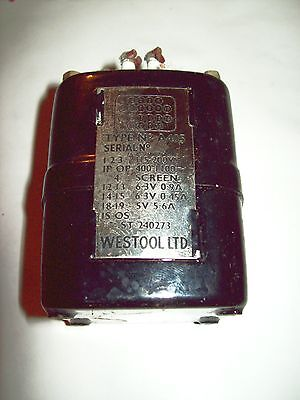 Recovered Ex Military 115V 400Hz Transformer A405 (`Neptune` style by Westool)