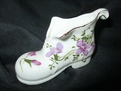 VICTORIAN VIOLETS HAMMERSLEY ? SHOE BOOT PIN CUSHION TOOTHPICK HOLDER