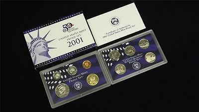 2001 S US Mint Proof 10 Coin Set