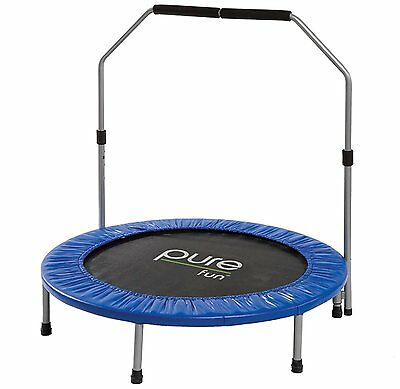 Pure Fun 40 in. Mini Trampoline with Hand Rail Exercise New Workout