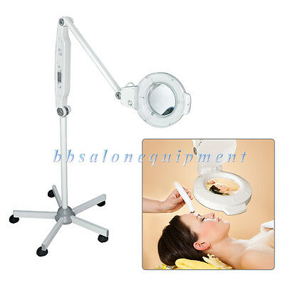 5X LED Magnifying Lamp Rolling Stand Ballast Starter Facial Skin Jewelry Salon