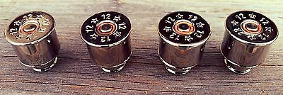 Montana made Nickel plated 12 gauge shotgun brass drawer pulls.Sold in sets of 3