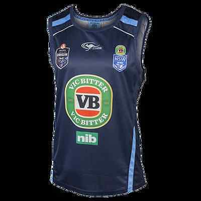 NSW Blues 2015 Players Navy Training Singlet 'Select Size' S-3XL! BNWT's!