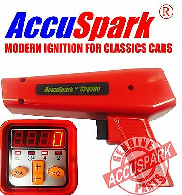 AccuSpark SP8000 Ignition Timing strobe Lamp digital advance / Rev counter