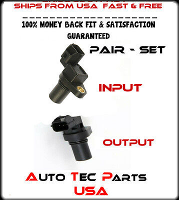 New Transmission Input & Output Speed Sensor Sensors - 2 Piece Set / Pair