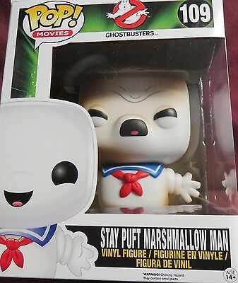 """FUNKO, HOT NEW 6"""" POP, FROM """"GHOSTBUSTERS"""",TOASTED STAY PUFT MARSHMALLOW MAN"""