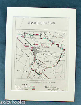 BARNSTABLE - Antique Map / Plan, in mount,  Boundary Commissioners Report - 1868