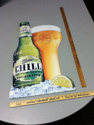 WL5 MILLER CHILL BEER SIGN TIN TACKER 2008 CHELADA STYLE BREWERY SIGNS 1 DISPLAY