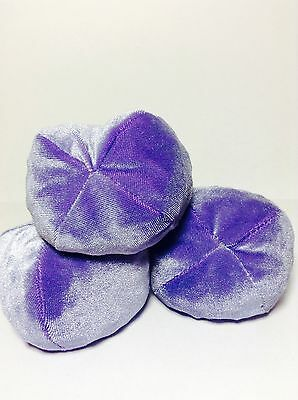 Professional Juggling Bean Bag Balls set of 3 - purple plush - 4oz - 114gr