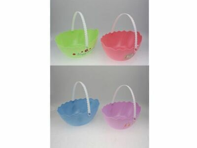 24 x Easter Egg Basket plastic large 4 asstd buckets Bulk wholesale lot
