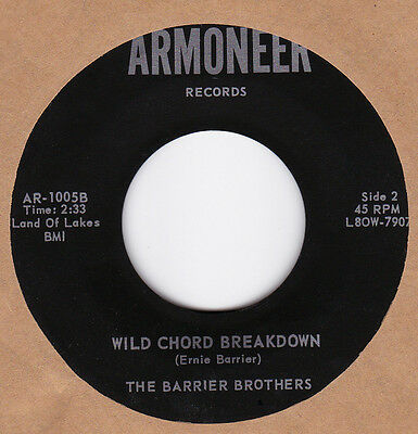 Rare Bluegrass 45 The Barrier Brothers ^ Wild Chord Breakdown ^ARMONEER