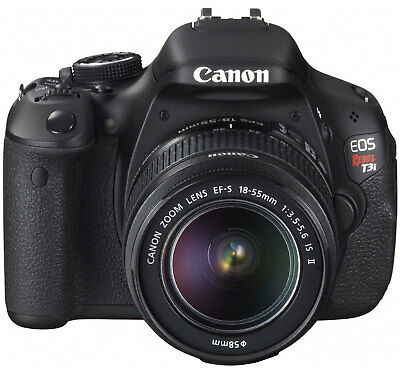 "Canon EOS REBEL T3i 18MP DSLR with 18-55mm IS II Lens 3"" LCD 1080p HD video"