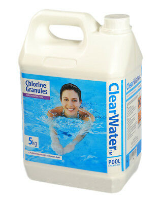 Clearwater 5Kg Chlorine Granules For Pools  Spas And Hot Tub Disinfectant Ch0004