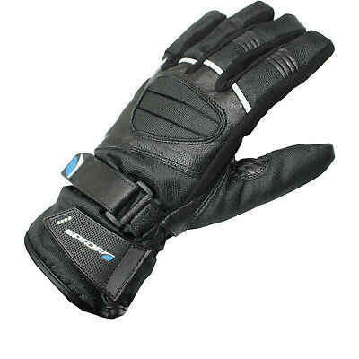 Spada Ice WP Leather Motorcycle Gloves Leather Textile Waterproof Thermal Bike