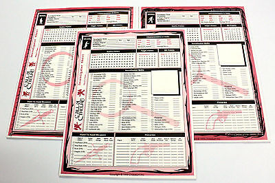 The Call of Cthulhu 1920s 1890s 1990s INVESTIGATOR SHEETS Chaosium 5th Edition