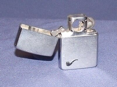 Zippo Windproof Lighter, Brushed Chrome with Pipe image, Pipe Insert, 1986