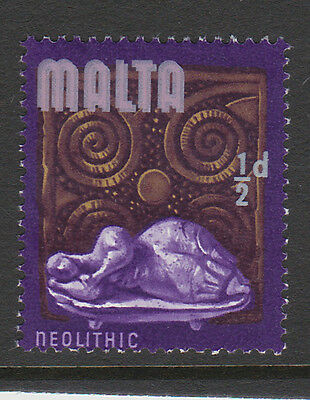 MALTA 1965 ½d WITH ROSE-PINK (MALTA) PRINTED TWICE SG 330b MNH.