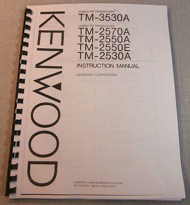 Kenwood TM-3530/2530 Operating Manual - Premium Card Stock & Protective Covers!