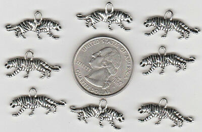 You Get 20 Metal Silver Tone Tiger Charms, - From Junkmanralf  U.s. Seller. C25