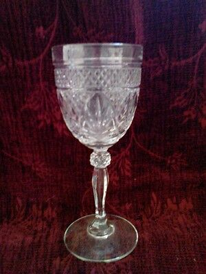 Cristal D'Arques ANTIQUE CLEAR Wine Goblets -Set of 4- FREE SHIPPING