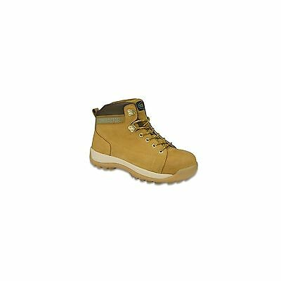 1 X Contractor Honey Nubuck Safety Hiker Boot Size 9 Protective Safe Footwear