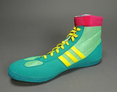 NEW Adidas Combat Speed 4.0 IV Wrestling Shoes Emr Pink Yellow G96429 Retail $75