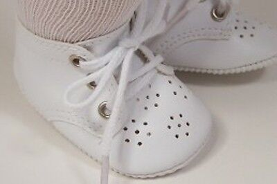 WHITE Toddler-Baby Doll Shoes For Bitty Baby & Bitty Twins DEBs