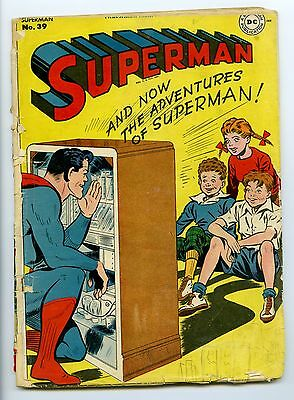"SUPERMAN #39 ""VG"" Classic DC Golden-Age Comic Book 1946"