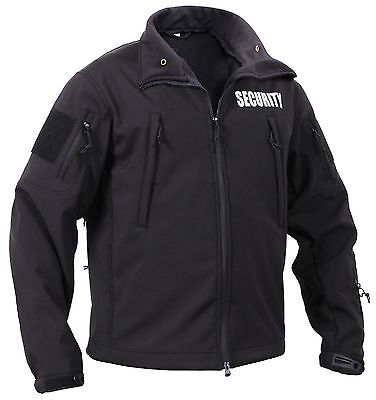 Men's Black Special Ops Soft Shell SECURITY Tactical Jacket Waterproof Coat