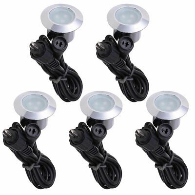 5pcs LED Deck Step Lights Low Voltage Waterproof Pathway Stair Path Lamp Outdoor