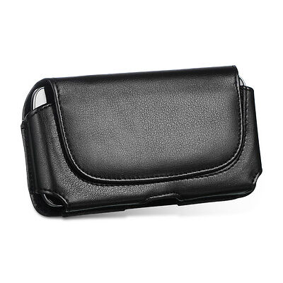 For Samsung Jack i637, Impression SGH-A877 Black Leather Case Pouch Holster