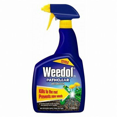 Weedol Pathclear Fast Acting Weedkiller Kills To The Root (1 Litre Spray)