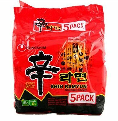 Nongshim Shin Ramyun Gourmet Spicy Instant Noodles Pack of 5