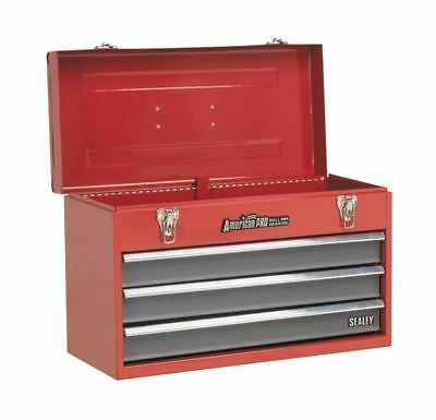 Sealey Red 3 Drawer Portable Top Box Tool Chest & Handle Pro Ball Bearing Slide