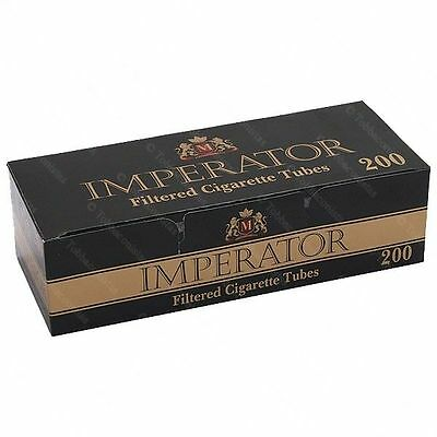 Box Imperator Black Cigarette Filter Tubes 200